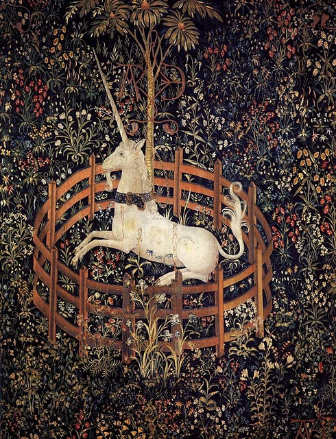 UnicornCaptive, 1495 1505, The Hunting, Middle Age, New York, Art History, The Last Unicorns, Unicorns Tapestries, Metropolitan Museums