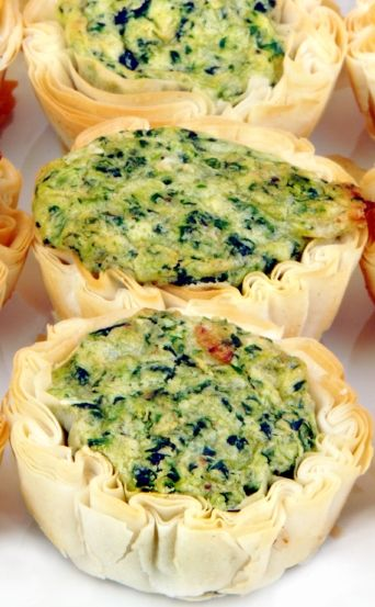 Spinach Brie Bacon Mini Quiches for a quick, crowd-pleasing appetizer