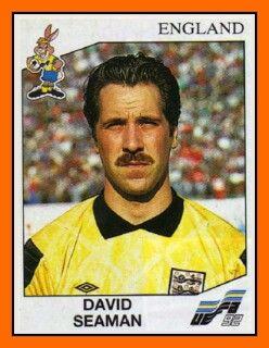 David Seaman of England. Euro '92 card.