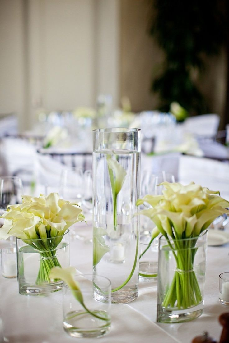 Best wedding centerpieces calla lilies images on