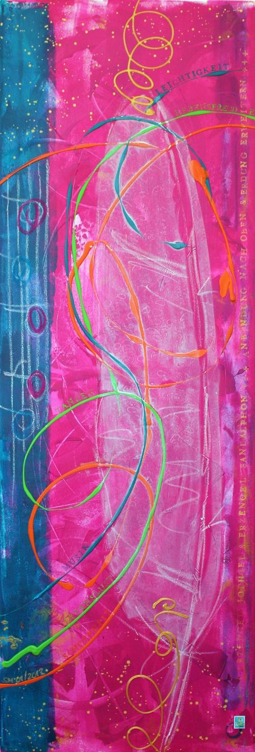 Seelenbild »Erzengel Jophiel & Erzengel Sandalphon: Schönheit, Lebensfreude. Lebenslust. Abgrenzung & Erdung« (50 x 150 cm) | © Stefanie Marquetant
