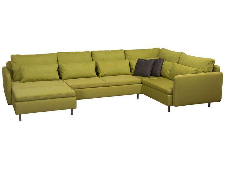 canap d 39 angle fixe droit 5 places rubix coloris vert. Black Bedroom Furniture Sets. Home Design Ideas