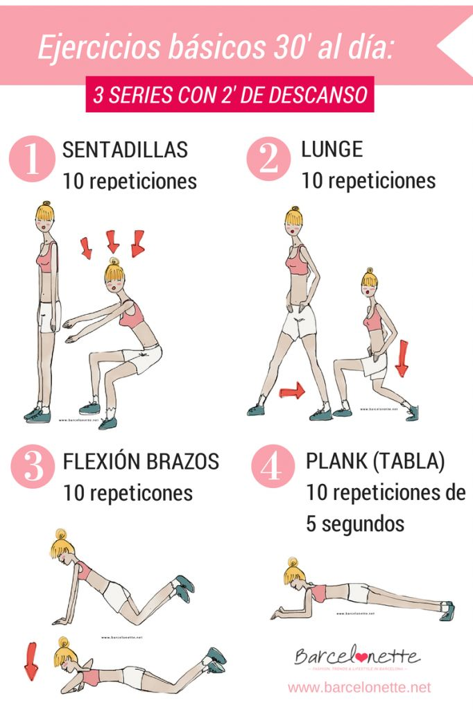 Tabla de ejercicios de 30 minutos al da barcelonette for Gimnasio 30 minutos