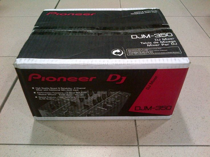 PIONEER DJM-350 PROFESSIONAL DJ MIXER BLACK, Brand New!  Detailed Description:    The DJM-350 mixer inherits similar functions and operability of the popular Pioneer DJM series of mixers often experienced in the club scene. The mixer is equipped with four kinds of effects as well as an isolated 3-band equalizer—all of which allow the DJ to make a one-of-a-kind mix. The front USB port allows users to record their DJ mixes onto USB storage devices, check their own mix and take it with them to…