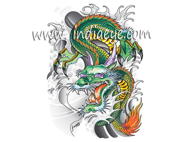 vector artwork dragon for printing on t-shirts