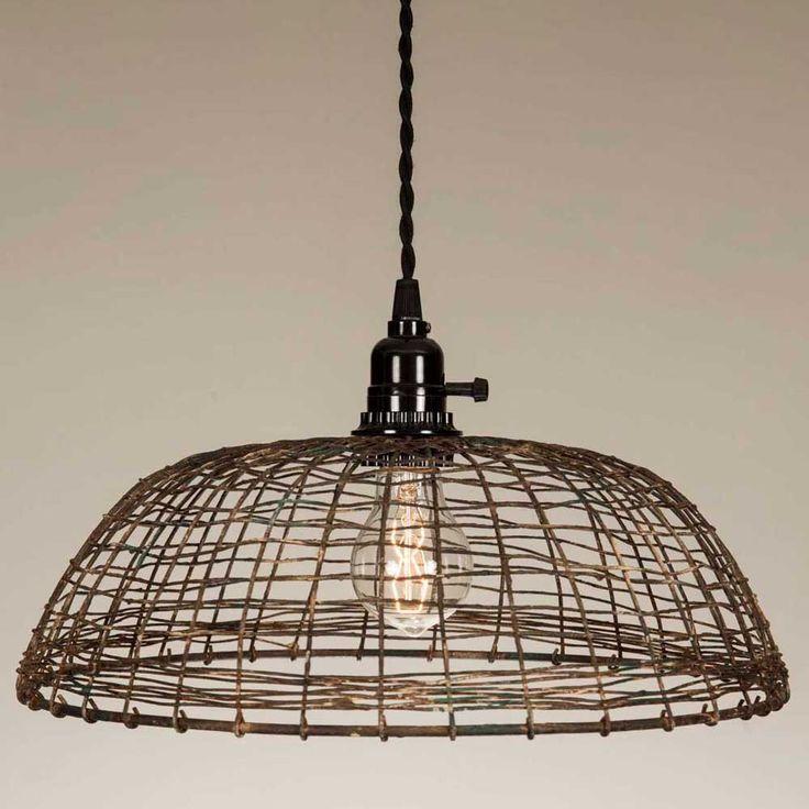 Woven Wire Pendant Lamp