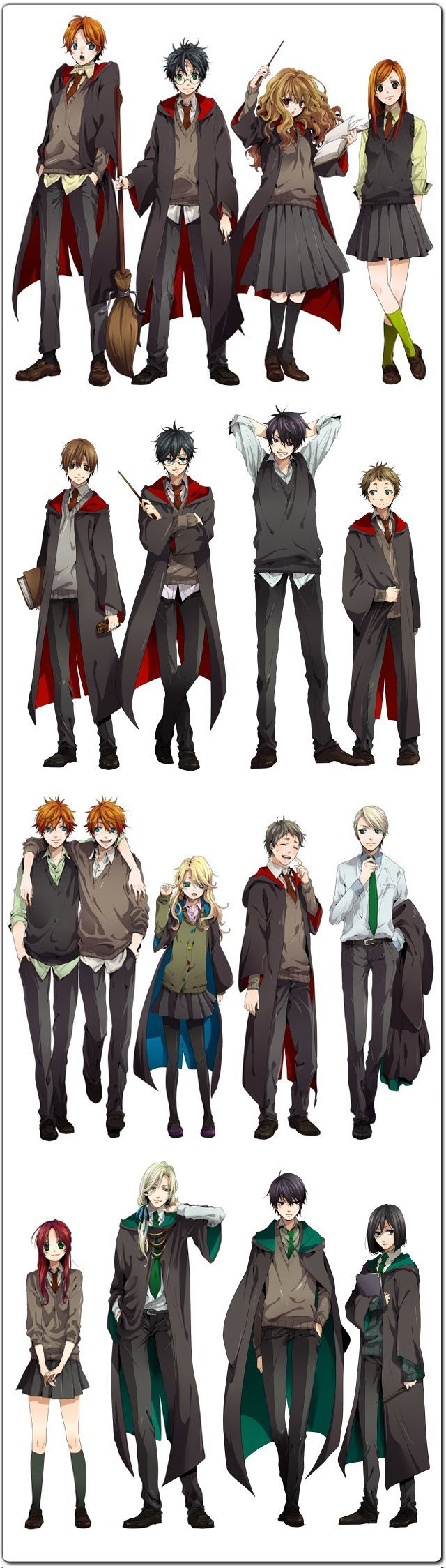 GoBoiano The Harry Potter Cast Reimagined as Anime