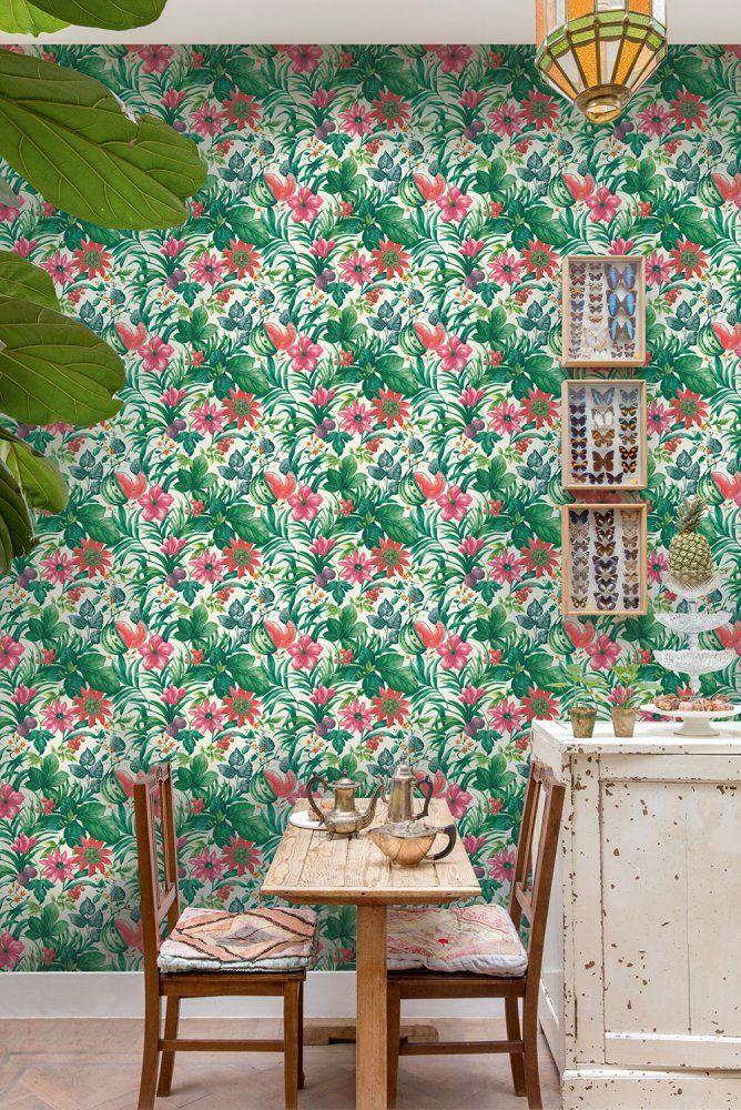 Tapeta na zeď Grandeco - BA2001 #style #home #wallart #inspirace # #waterproof #cover #útulné #greenflowers