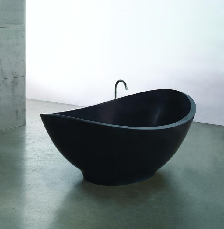 freistehende Badewanne Lavasca Mini schwarz