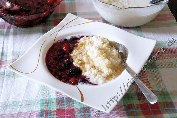 Milchreis und rote Grütze - Krups Prep and Cook