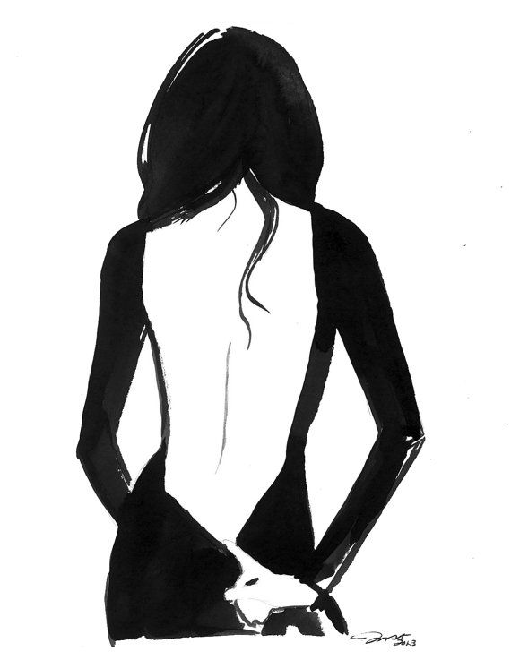Tease Me, print from original watercolor gesture painting by Jessica Durrant