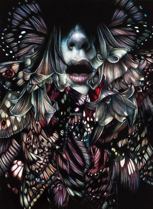 "Artist Marco Mazzoni ""Chemical Peacock""    on tumblr:marcomazzoni.tumblr    facebook    [Viahifructose]"