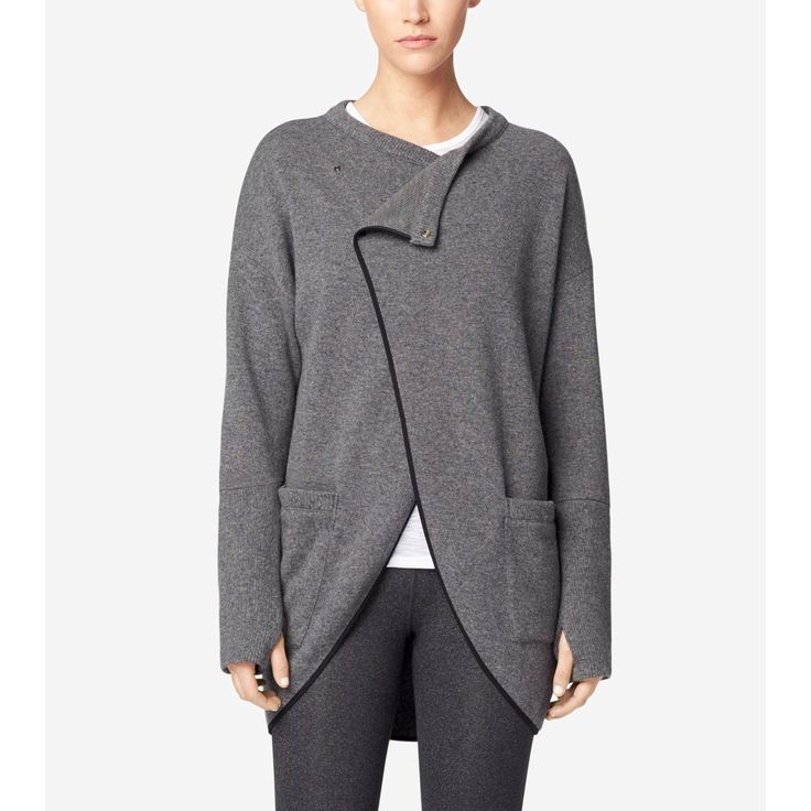 COLE HAAN StudiøGrand Synchronize Sweater - Pavement Heather. #colehaan #cloth #