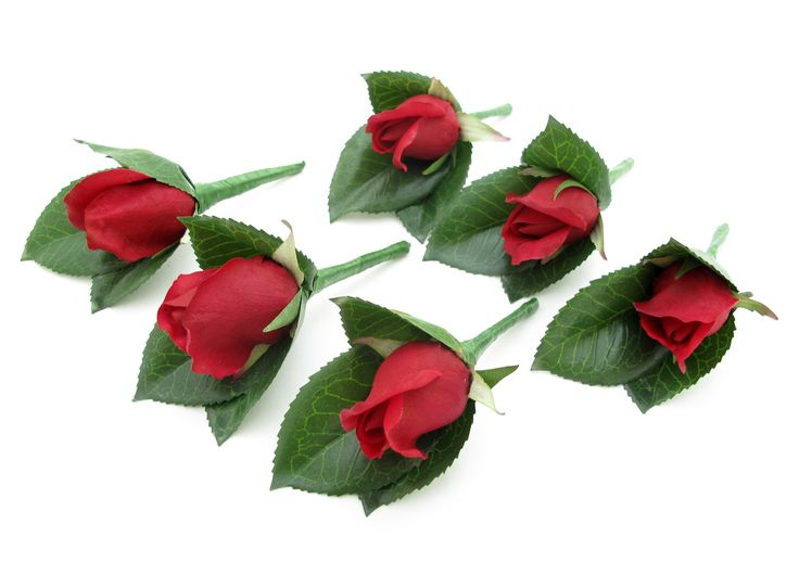 Fresh Touch Red Roses Set - buttonholes Extra pic for this set: http://www.pinterest.com/pin/151926187405778799/