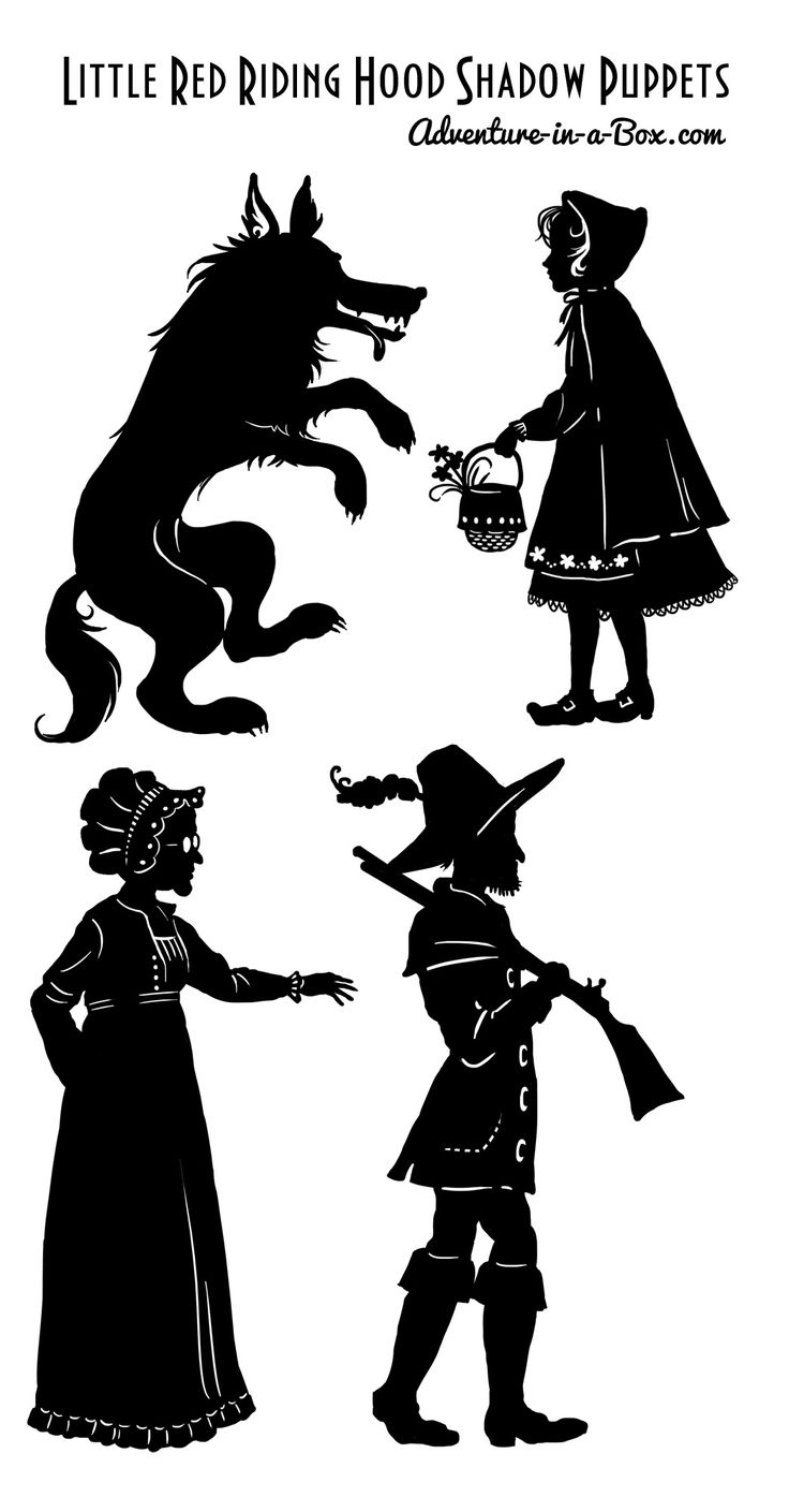 épinglé par ❃❀CM❁✿⊱Shadow Puppets: Little Red Riding Hood and More | Adventure in a Box