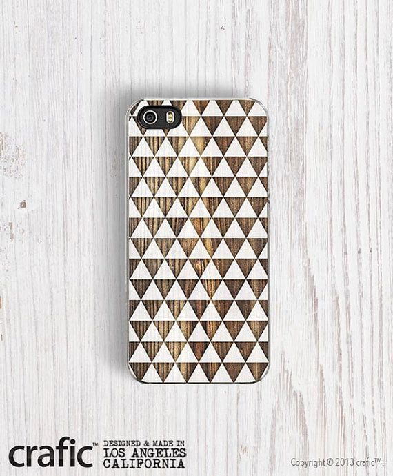 White Geometric Triangles iPhone 5/5S Case   iPhone 4/4S by CRAFIC, $24.00