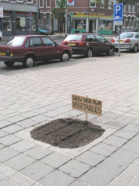 "An invitation to hack your city… (Rotterdam - 2004 - by Harmen De Hoop) ""He works without a client, installing his 'landscape adjuncts' illegally and anonymously…"" (Robert-Jan Muller, Jason Coburn)"