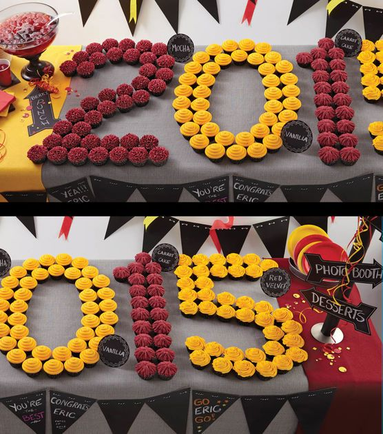 Graduation Cupcake Display