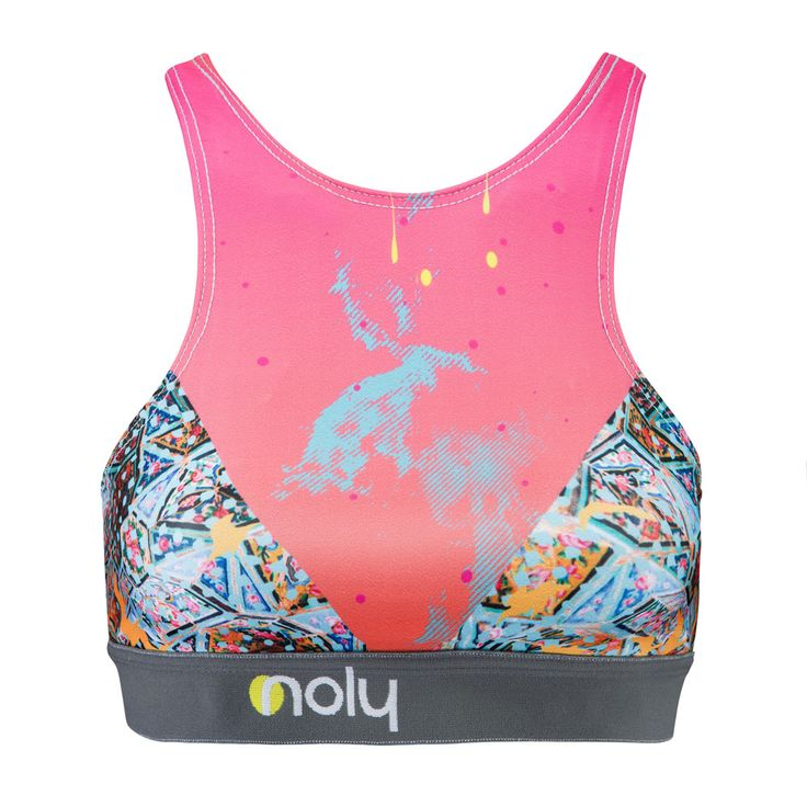 NOLY High Neck Sports Bra Boracay-Mosque. Women's fitness and yoga clothing. Great for active gym workouts or aerobic sessions. Romance sport and fashion