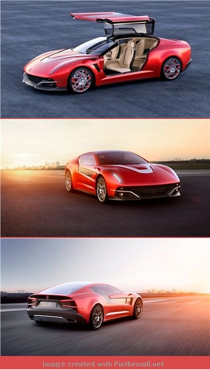 ItalDesign Brivido, 2012 , a design study of a hybrid, four-seat prototype based on a platform of the Volkswagen Group. - created via http://pinthemall.net