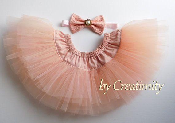 Salmon pink tutuballerina skirtphoto by CreatimityElegance on Etsy