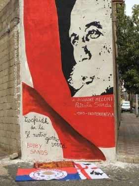 Orgosolo - L'opera murale è stata realizzata ad Orgosolo da un gruppo di amici-artisti in onore del leader indipendentista sardo Salvatore Meloni, detto Doddore