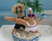Starfish Wedding Cake Topper-Sand Bucket by CeShoreTreasures