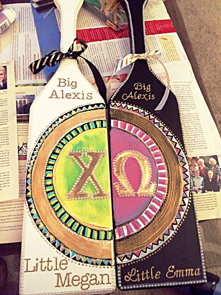 Perfect paddle for sorority twins!