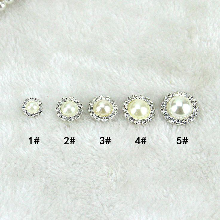 Ювелирные изделия лук ручной работы DIY материалы аксессуары сплав жемчуг горный хрусталь жемчуг круглый диск - Taobao