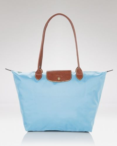 Longchamp Le Pliage Large Shoulder Tote in Azure from ebay