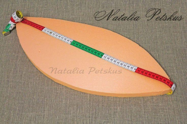 вырезать основу-подставку (у меня длина по диагонали 50 см, толщина пеноплекса 2 см