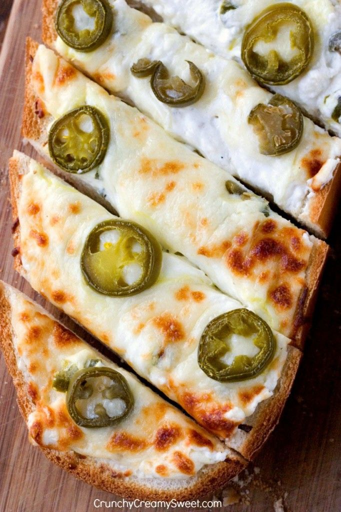 Jalapeno Popper Cheesy Garlic Bread Recipe Card