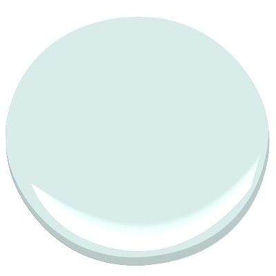 NEW bathroom paint: Benjamin Moore Crystal Blue 2051-70...Bird's Egg ended up being just too dang blue & dark for a room with no window.