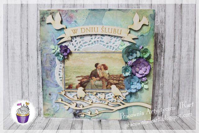 Pracownia artystyczna IKart: Kartka ślubna w wydaniu vintage