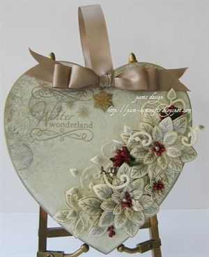 First Christmas project 2014 by: murphy-millie (Lovely multi-purpose gift - card, ornament, shelf decor, etc. Elegant. KB)