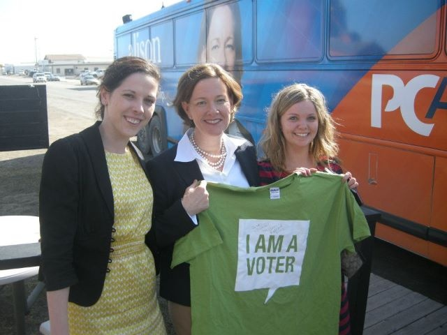 Student Vote team members meet with Alison Redford.