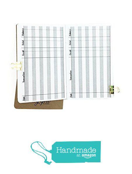 Checkbook Register Traveler's Notebook insert - Pocket size from HappyCardFactory Designs https://www.amazon.com/dp/B01MEERH2F/ref=hnd_sw_r_pi_dp_dP2mybDCAFZ6A #handmadeatamazon