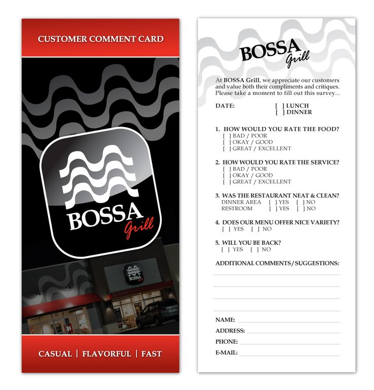 38 best liquor store marketing images on Pinterest Comment - customer comment card template
