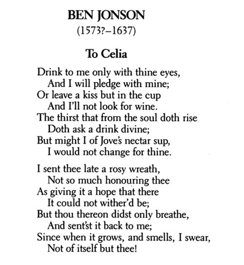 From The Great Poem: Ben Jonson - Love Poems