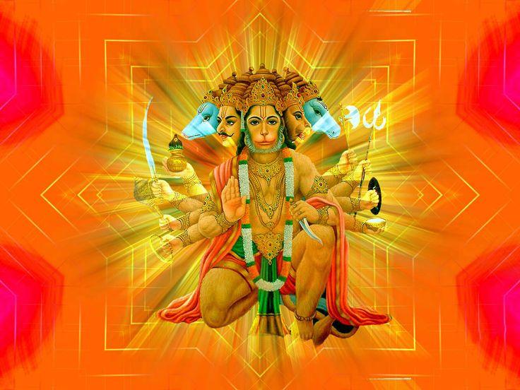 16 best images about panchmukhi hanuman wallpapers on pinterest beautiful free wallpaper - Panchmukhi hanuman image ...