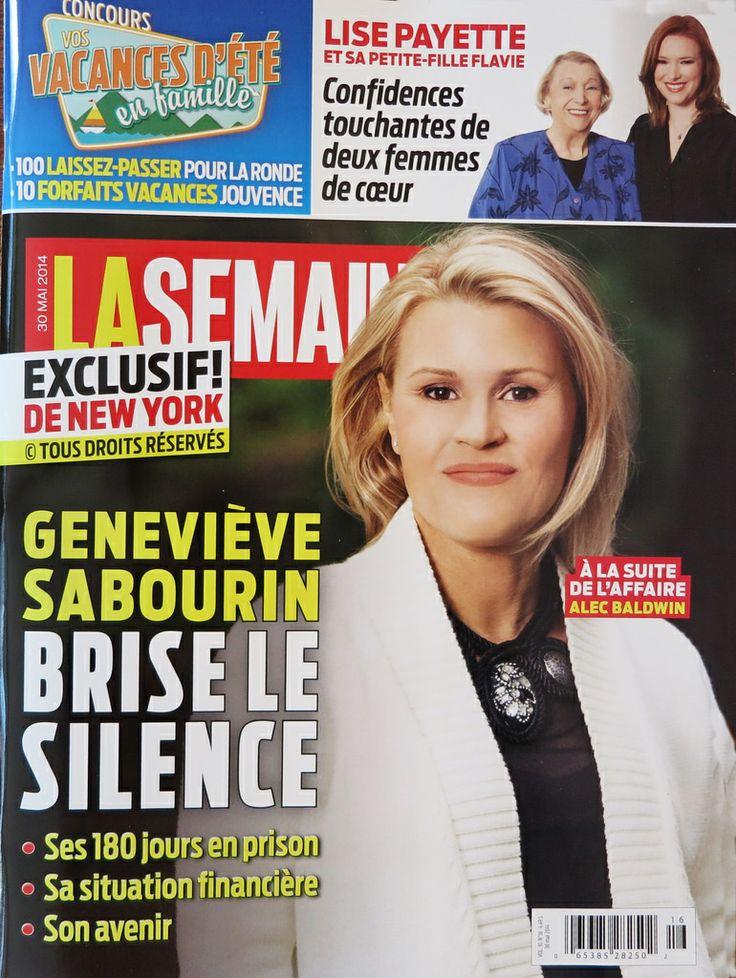 GENEVIÈVE SABOURIN | Flickr - Entrevue par le magazine La Semainehttps://www.flickr.com/photos/lestudio1/14281374786/