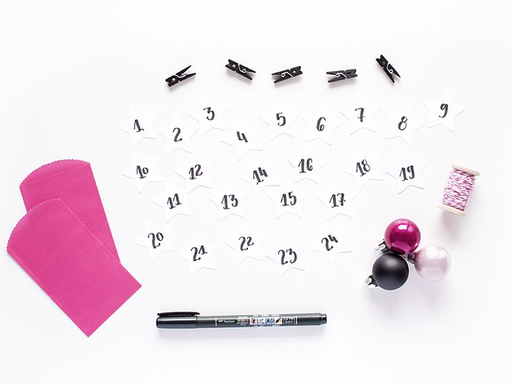 tutorial calendario adviento con lettering