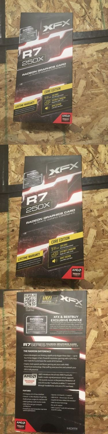 computer parts: Xfx Amd Radeon R7 250X 2Gb Ddr3 2Dvi/Hdmi/Displayport Pci-Express Video Card BUY IT NOW ONLY: $70.0