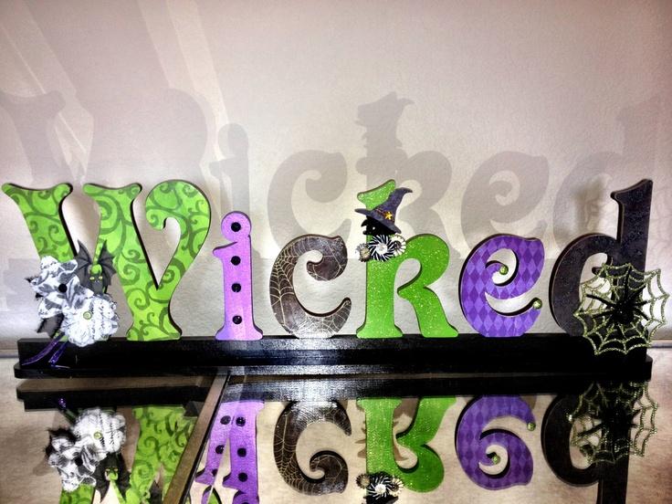 Halloween decor letters. 72.00, via Etsy. Halloween