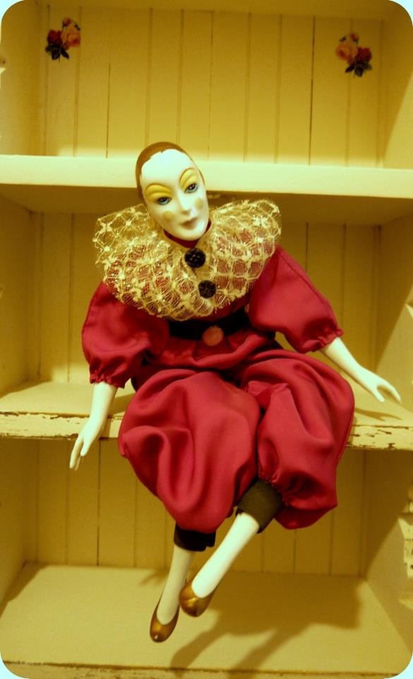 Vintage Harlequin doll