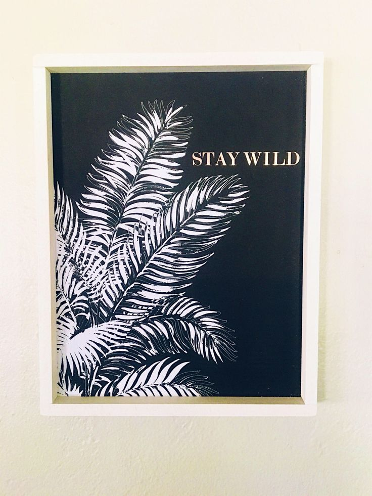 Excited to share the latest addition to my #etsy shop: Stay wild print & frame #homedecor