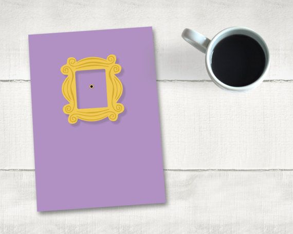 Greeting Card Printable   Friends   Monica's Place   5 by 7   Friends Forever   Friends TV Show   Two File   Instant Download