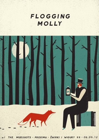 Flogging Molly | Warszawa 2012 | Design: Talkseek