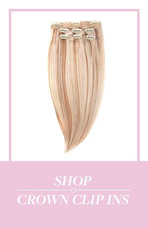 Hidden Crown® is the hair extension that gives you perfect dream hair in less than a minute! With no clips, no glue, and no damage, this temporary extension is the answer to all your hair problems. Clip ins and Toppers too! 100% human REMY hair.