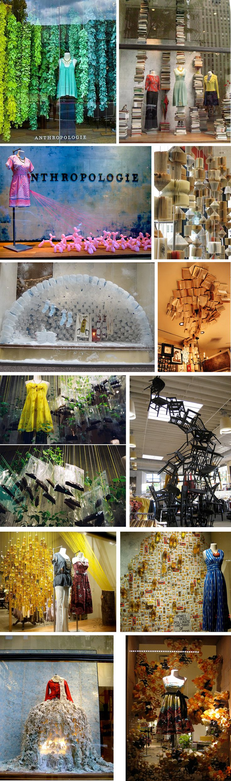 (A través de CASA REINAL) >>>>  Anthropologie Visual Displays. The brand takes a lot into there store and window display, the have their theme based display and is known for one of the best window display